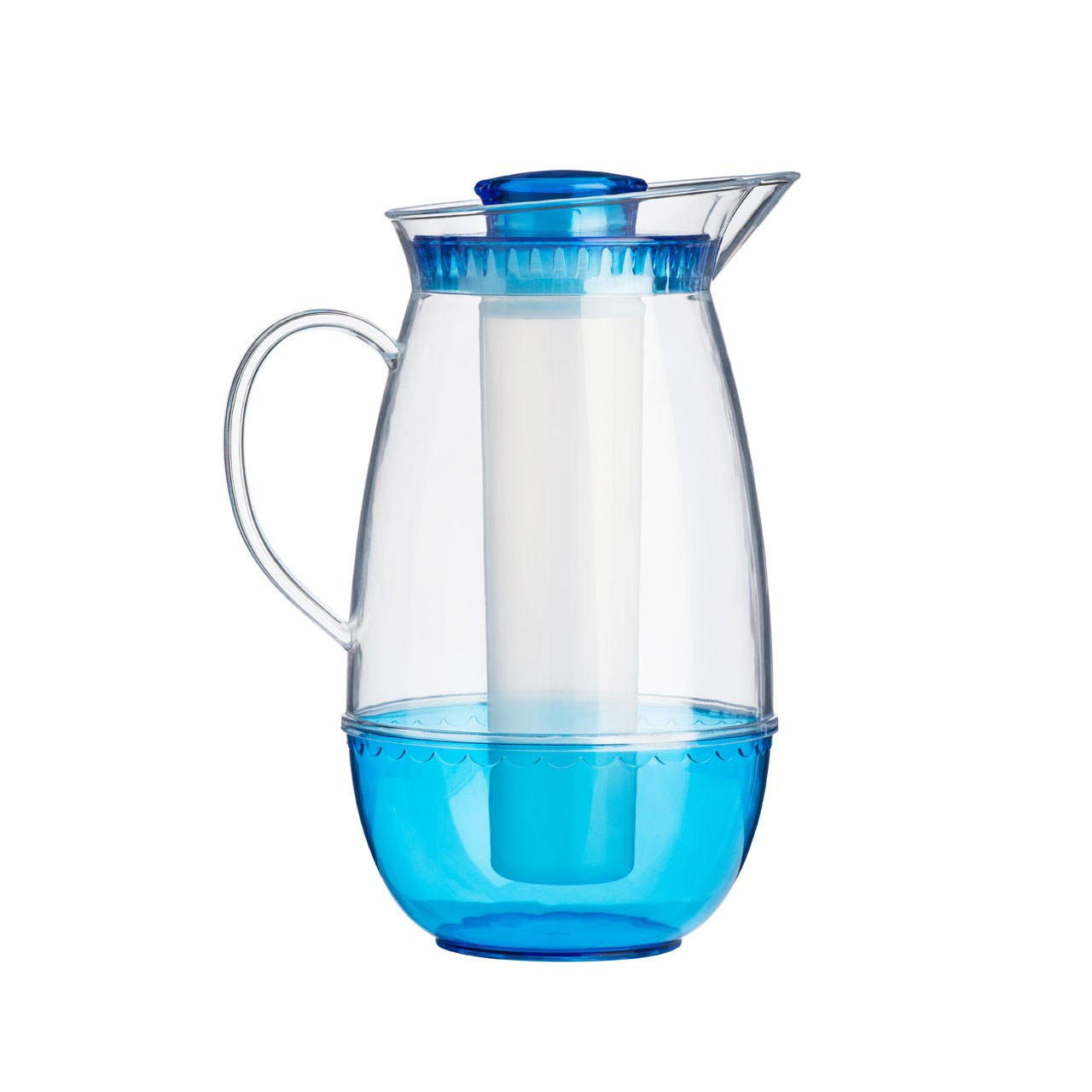 Jug with Ice Chamber - Clear/Blue