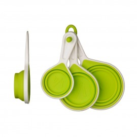 Prime Furnishing Zing Measuring Cups - Lime Green, Set of 4