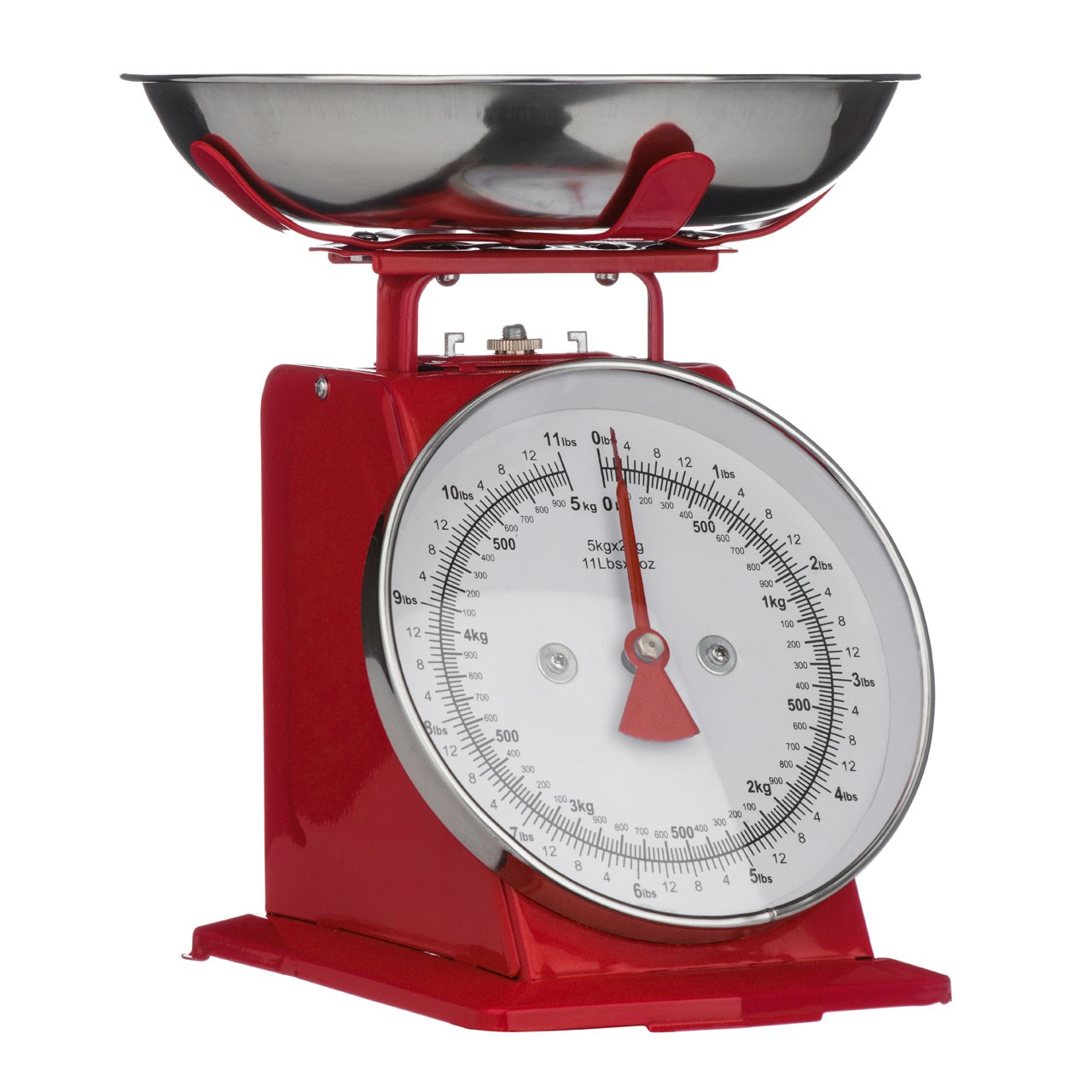 5 Kg Kitchen Scale Retro Style - Red