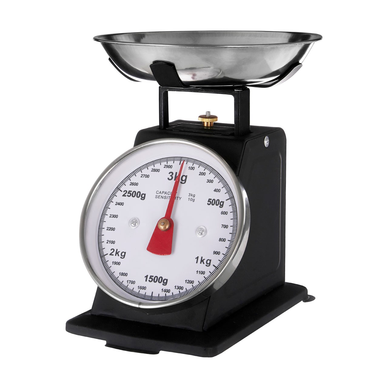 3 kg Retro Style Kitchen Scale with Stainless Steel Bowl
