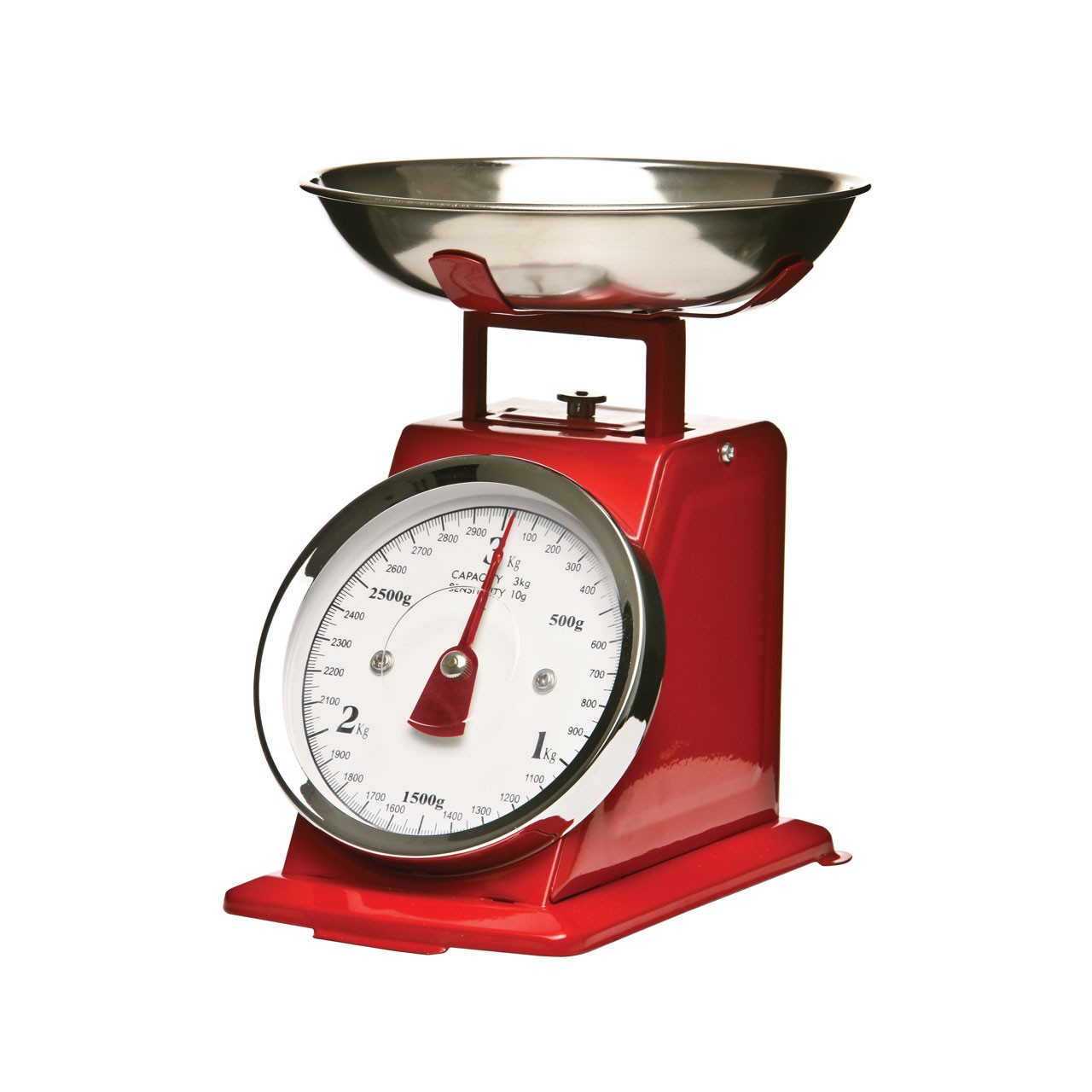 Kitchen Scale Red/Stainless Steel 3KG