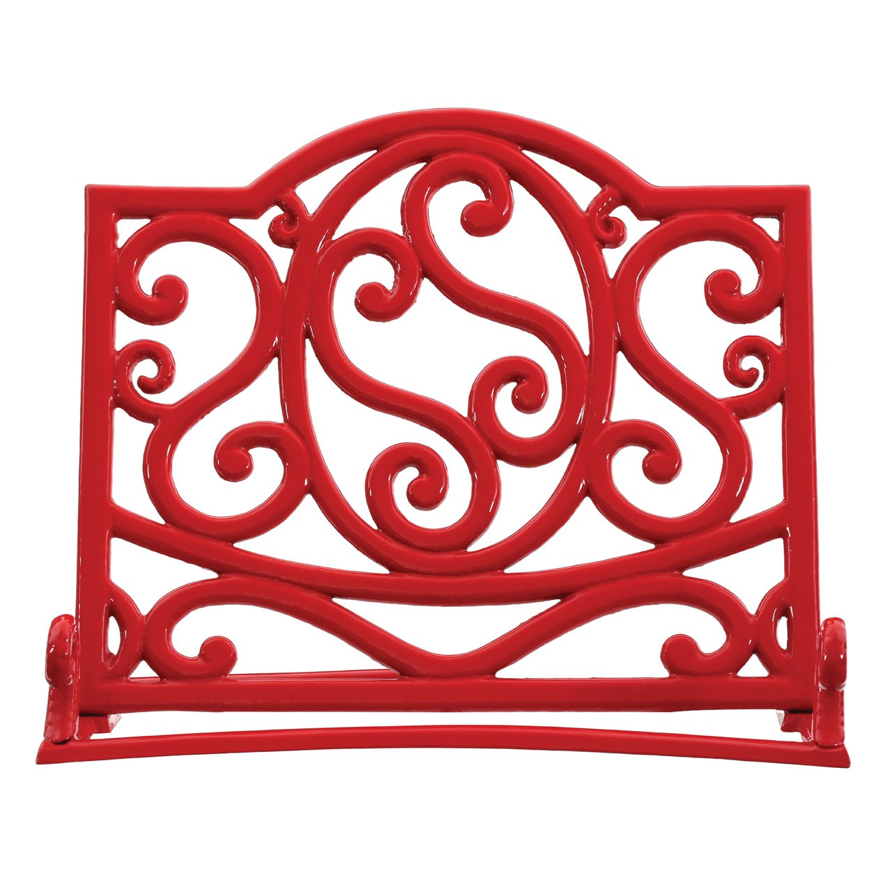 Cast Iron Cookbook Stand - Red
