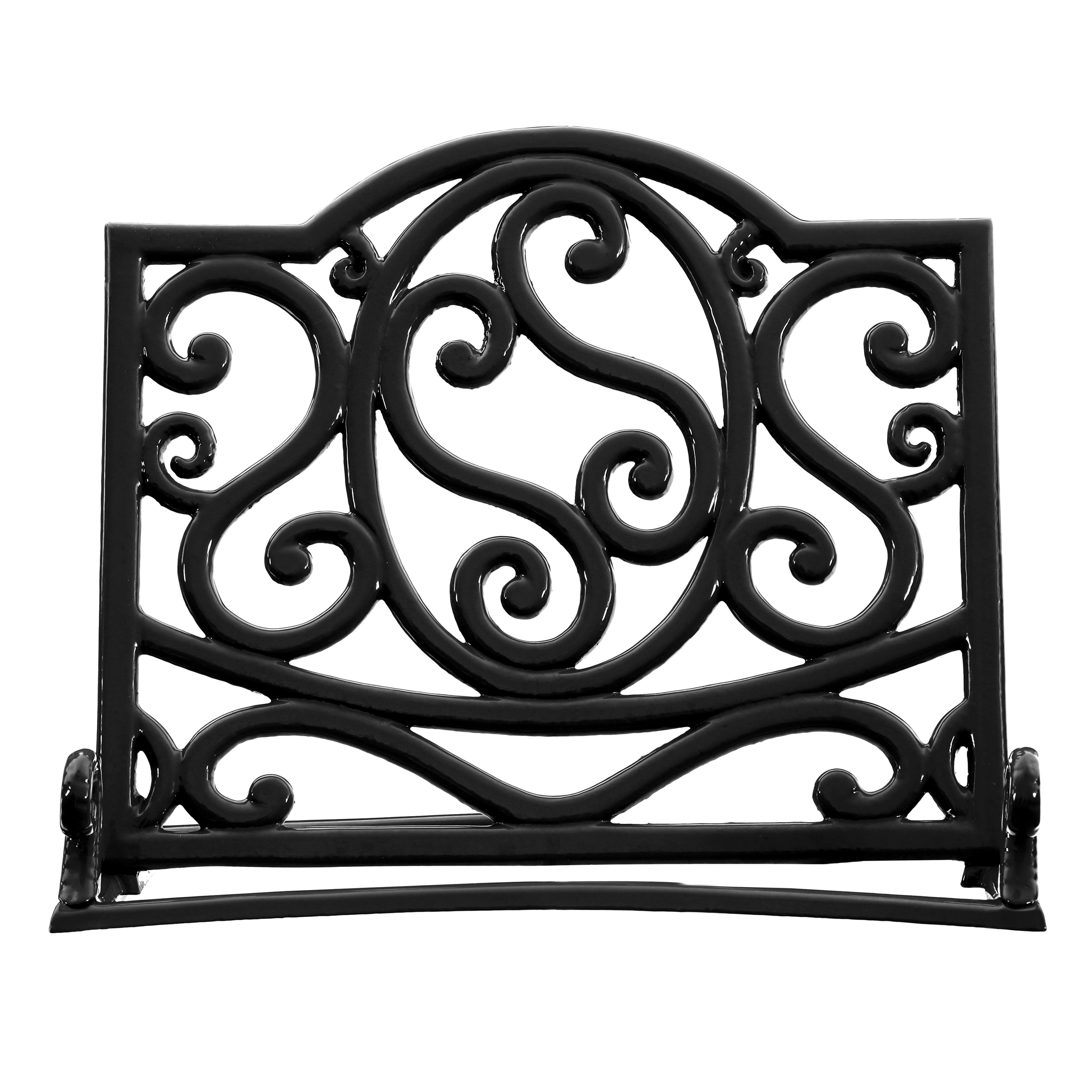 Cast Iron Cookbook Stand - Black
