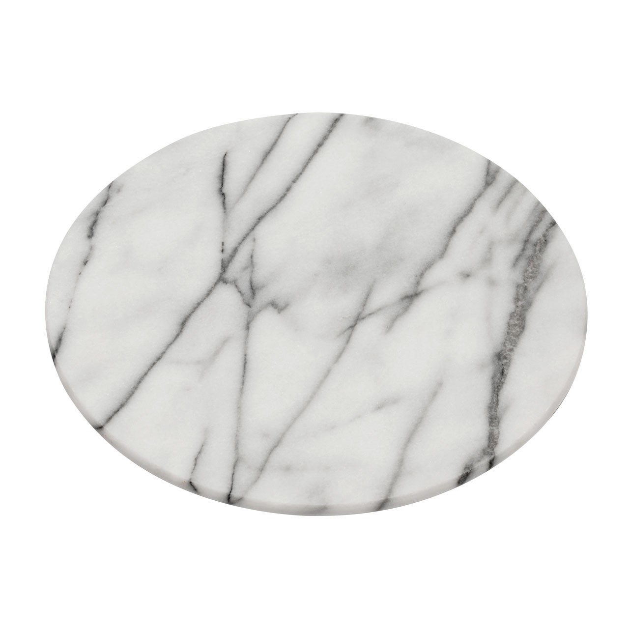 Prime Furnishing Marble Lazy Susan - White