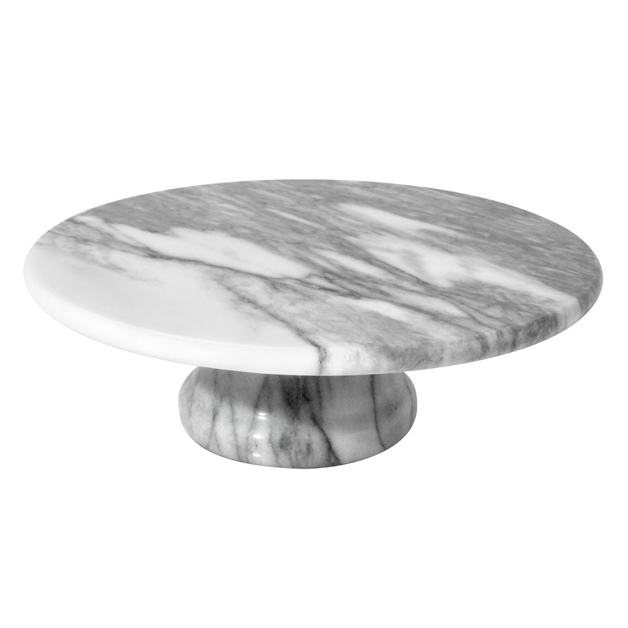 Marble Cake Stand in White