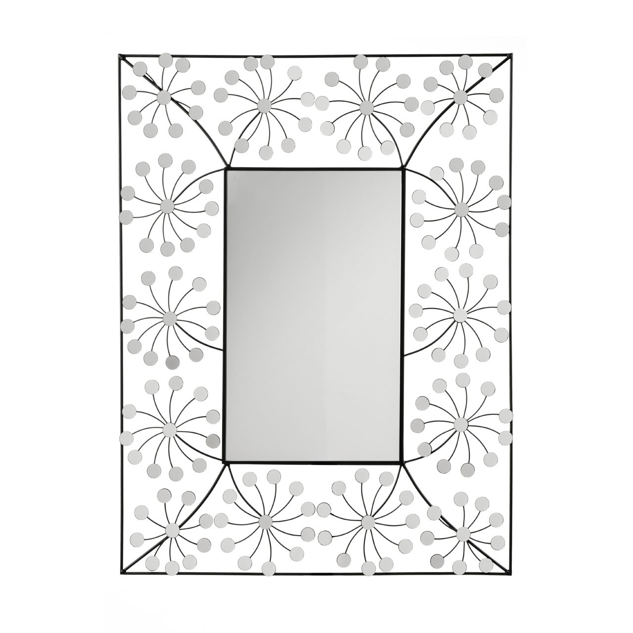 Floret Wall Mirror, Metal
