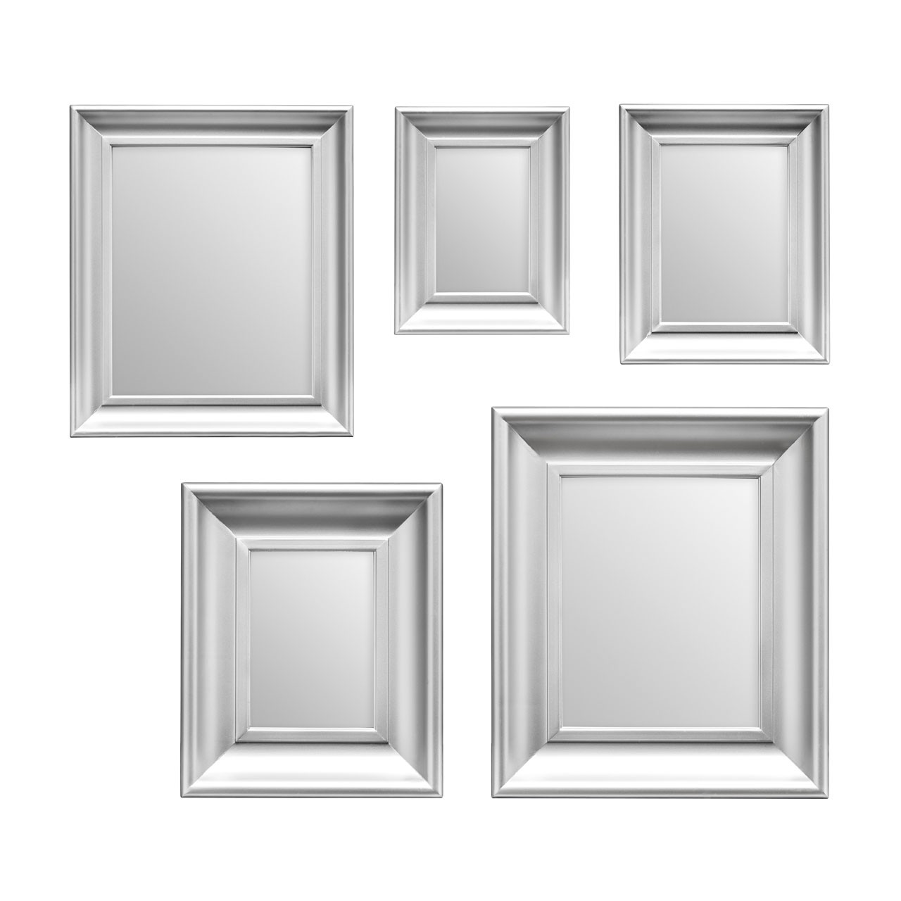 Prime Furnishing 5pc Mirror Set - Silver Frame