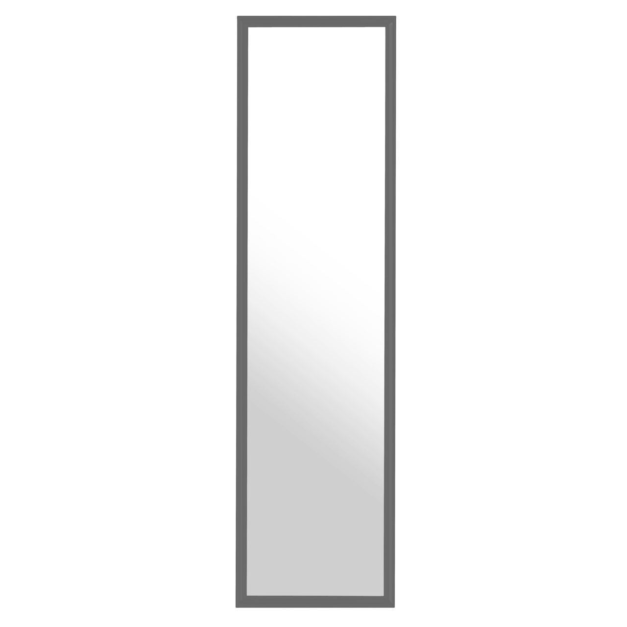 Over Door Strong And Durable Grey Plastic Frame Mirror