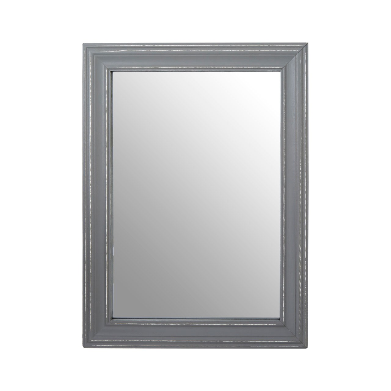 Henley Wall Mirror Antique Grey Wood Frame