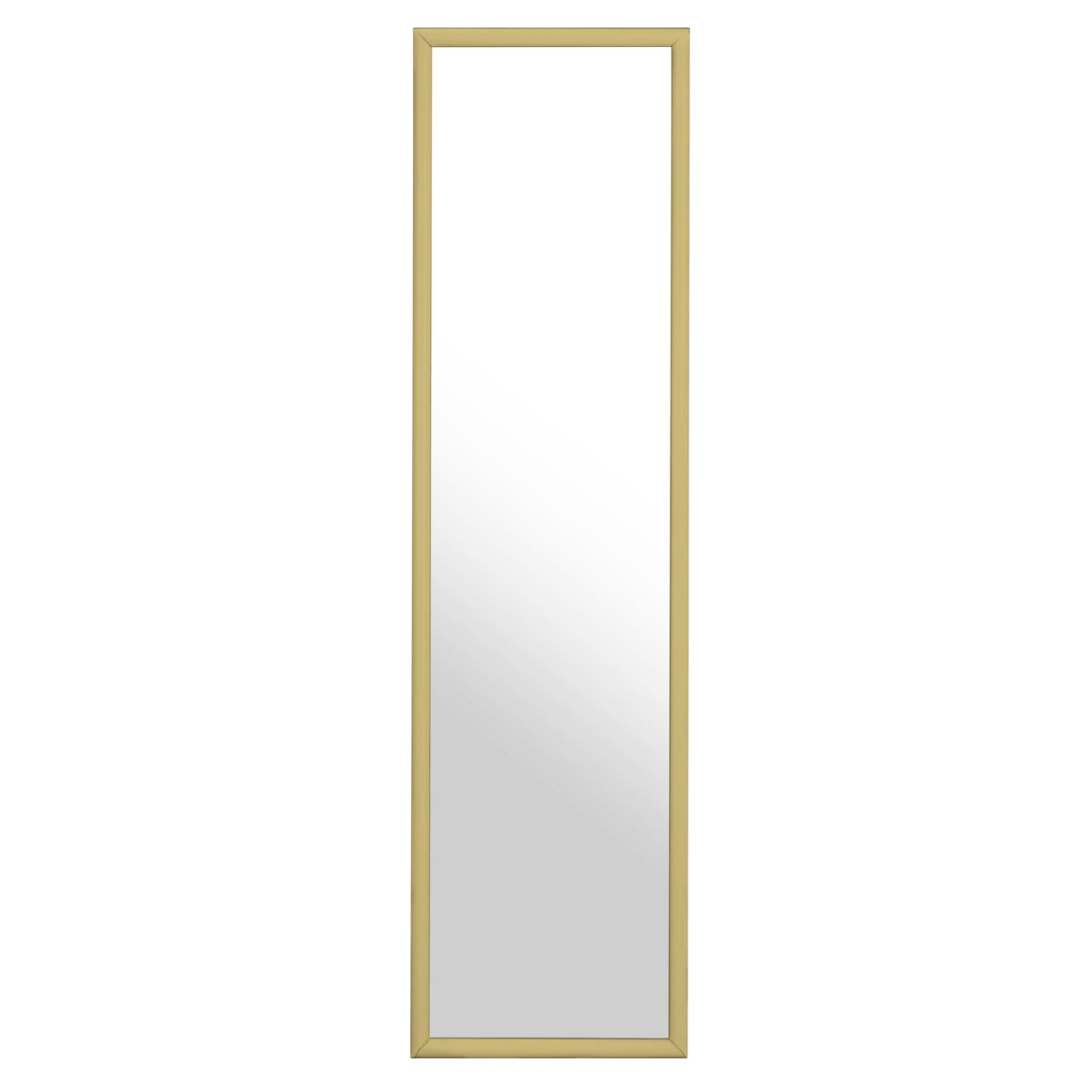 Gold Plastic Frame Over Door Mirror Understated Design