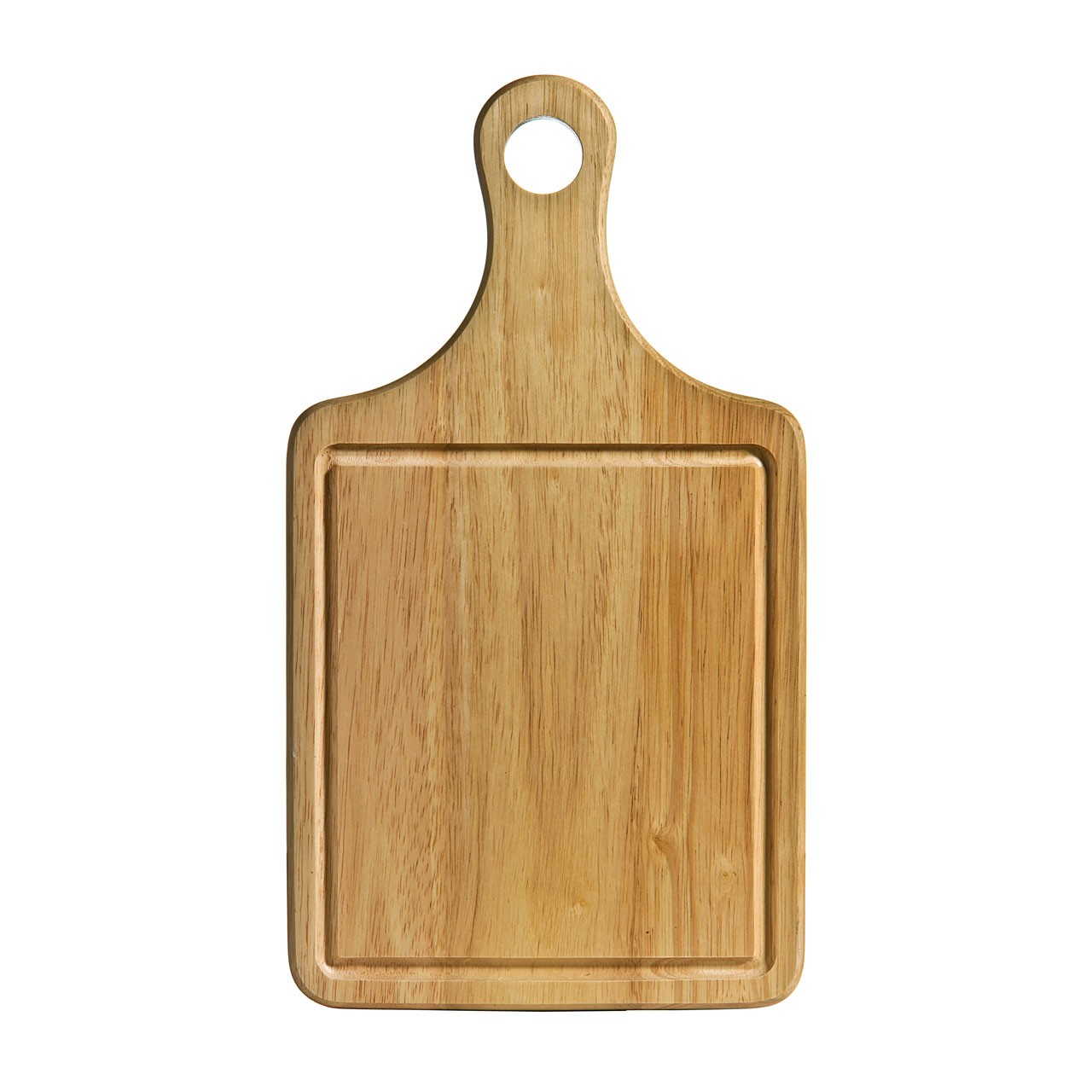 Rubber Wood Paddle Chopping Board with Groove