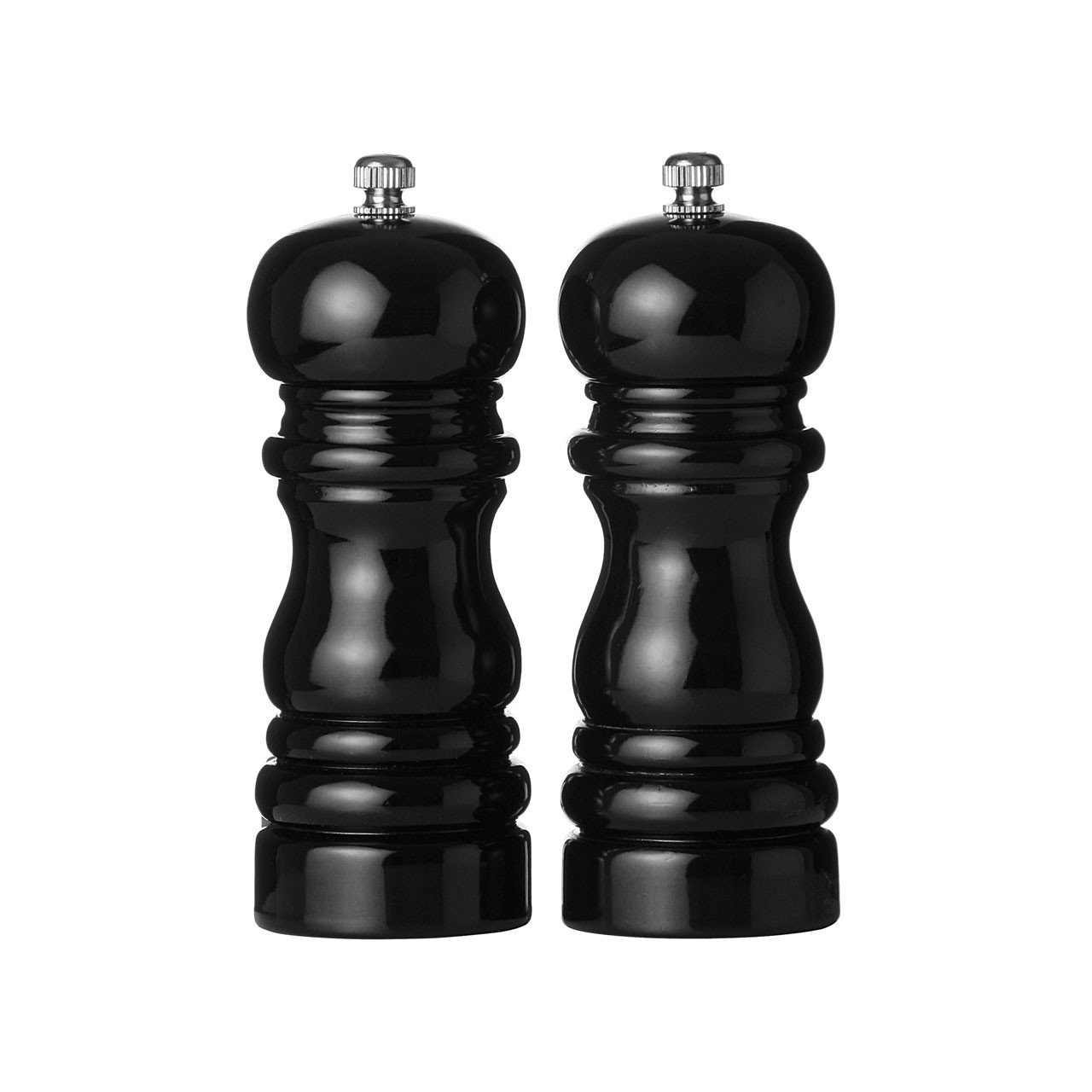 Salt and Pepper Mill Set - Hi Gloss Black