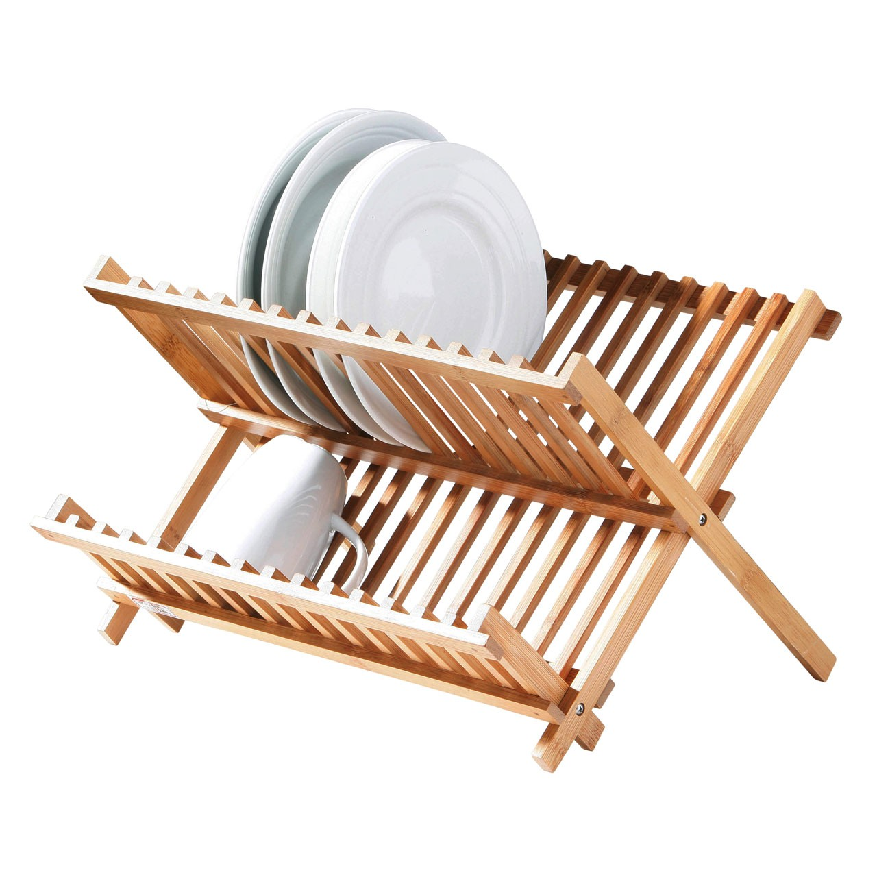 Bamboo Folding Dish Rack - Natural