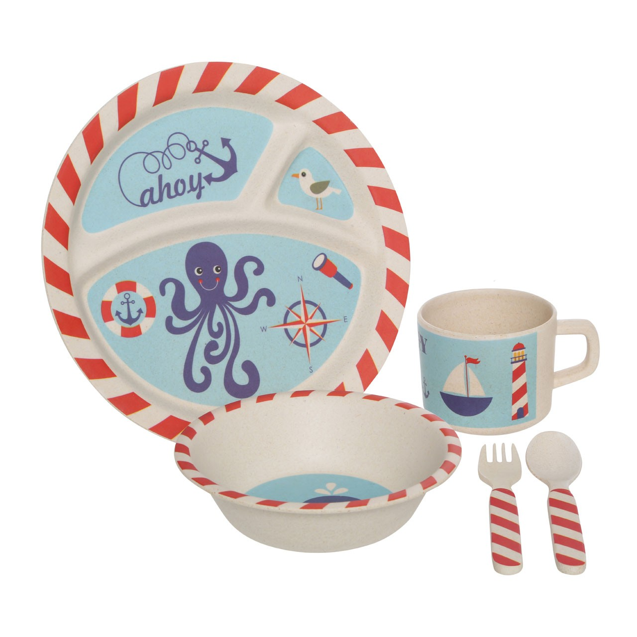 Prime Furnishing Eden 5pc Kids' Pirate Dinner Set
