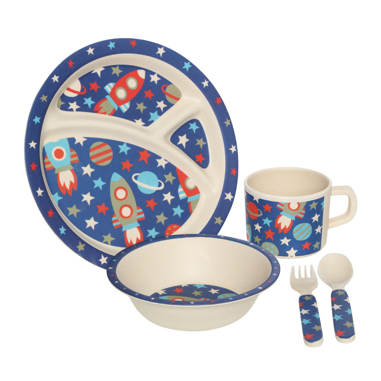 Prime Furnishing Eden 5pc Kids' Space Dinner Set