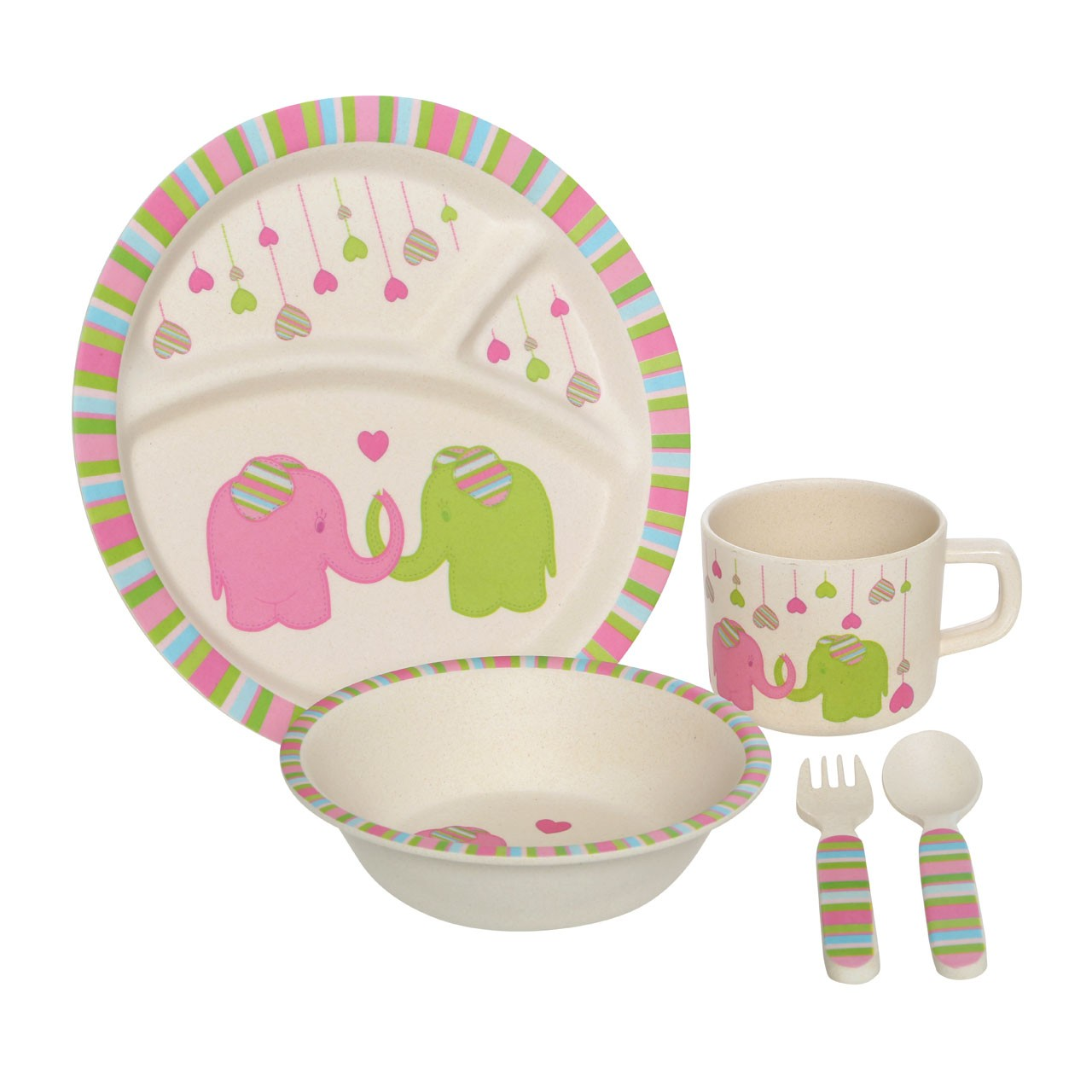 Prime Furnishing Eden 5pc Kids' Elephant Dinner Set