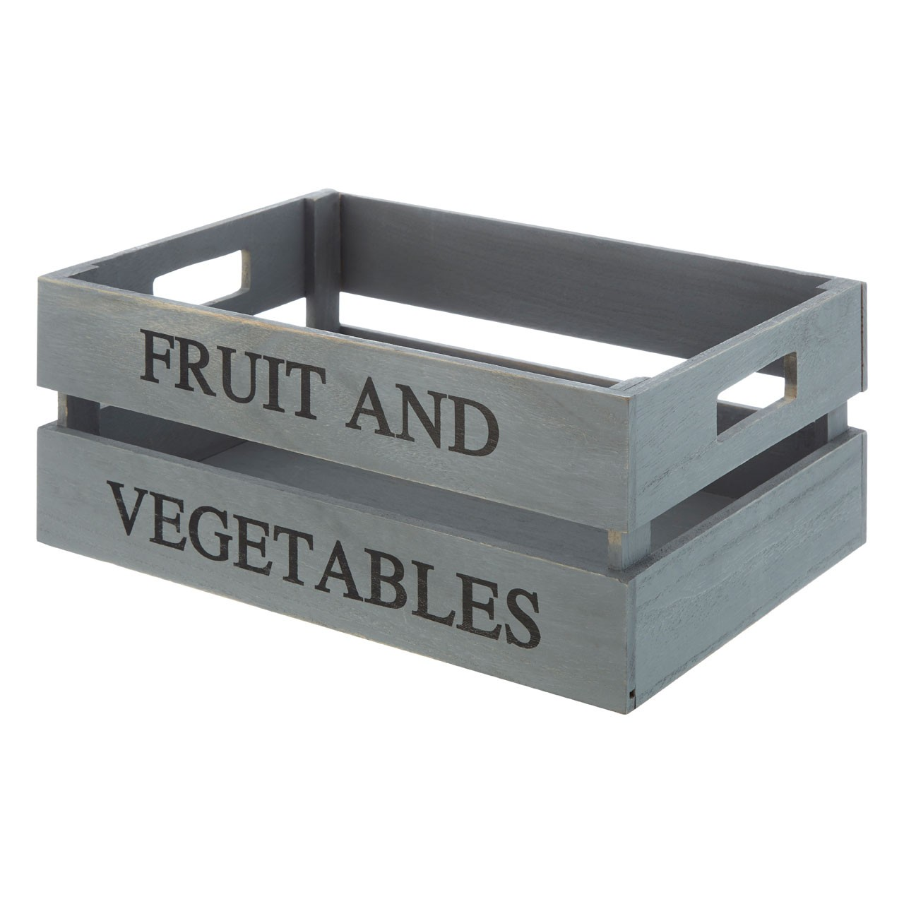 Grey Wood Fruit And Vegetables Crate