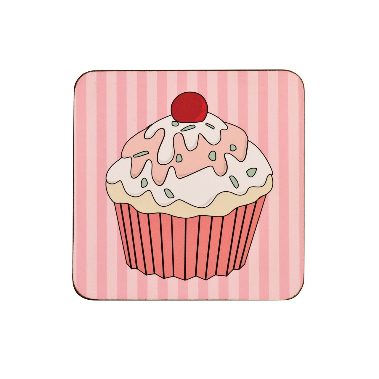 Cupcake Coasters, Set of 4, Cork