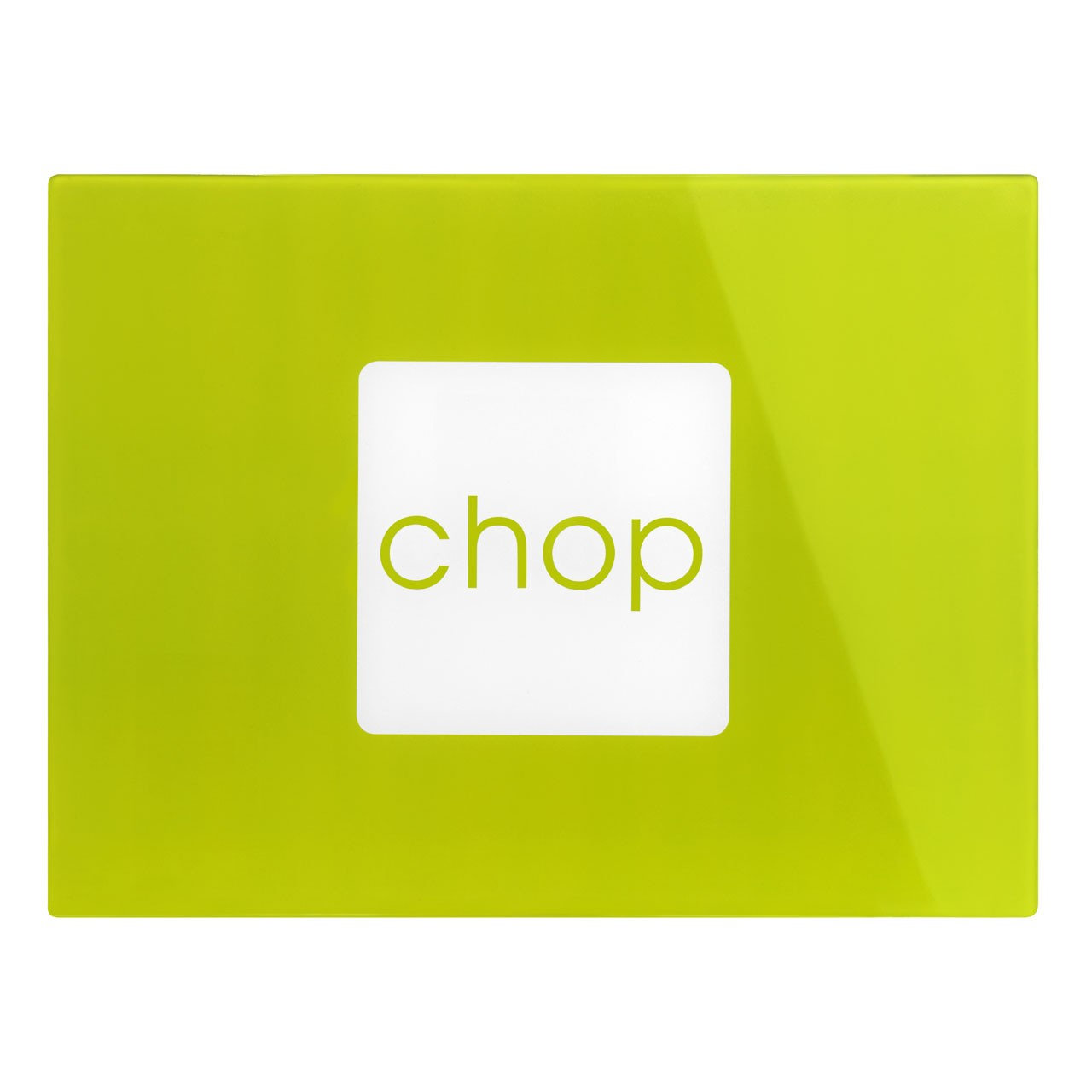 Glass Chopping Board - Lime Green