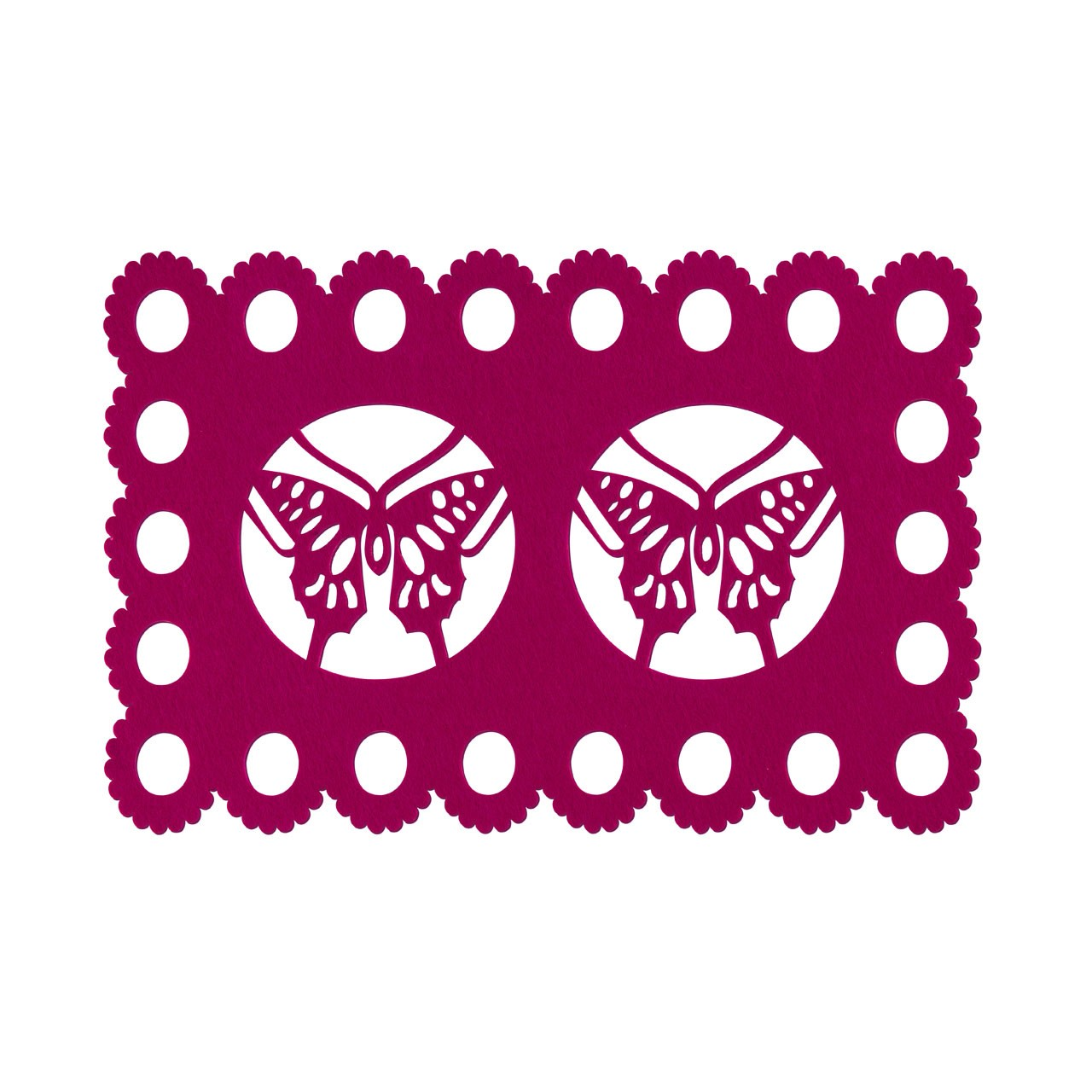 Butterfly Design Placemats - Hot Pink, Set of 2