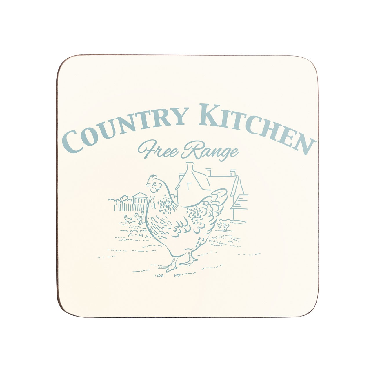 Country Kitchen Coasters, Set of 4