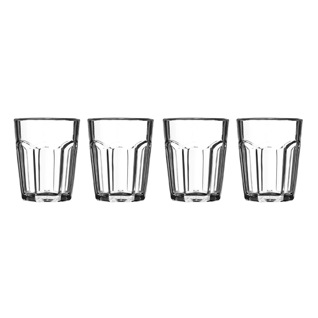 Plastic Shot Glasses - Clear, Set of 4