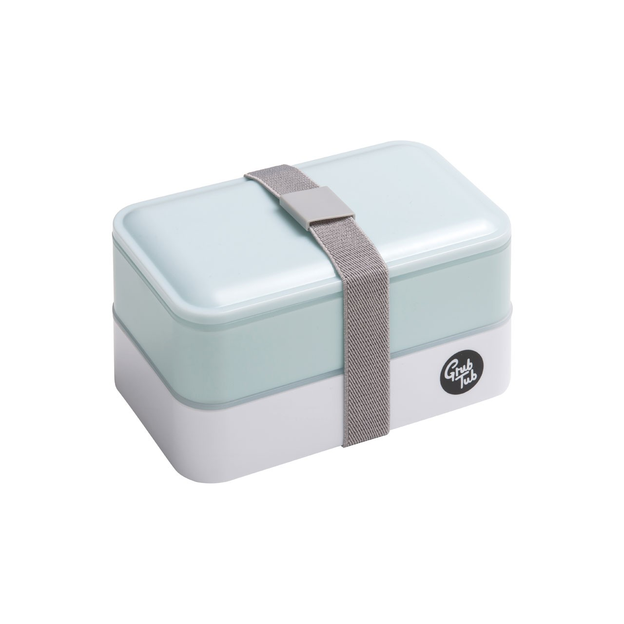 Grub Tub Lunch Box with 2 Containers and Cutlery - Mint/White
