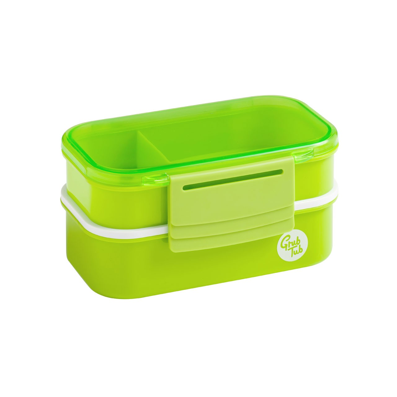 Grub Tub Lunch Box with 2 Containers and Cutlery - Green