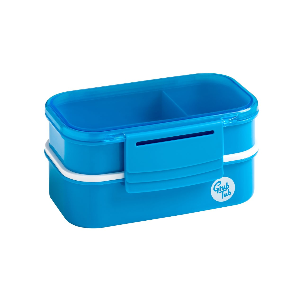 Grub Tub Lunch Box with 2 Containers and Cutlery - Blue