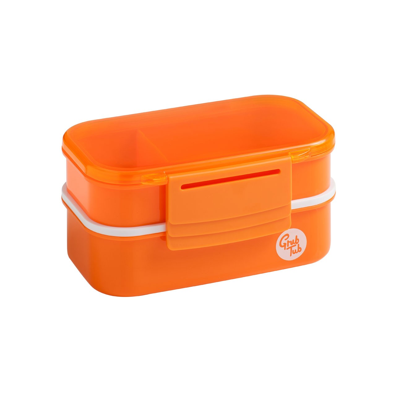 Grub Tub Lunch Box with 2 Containers and Cutlery - Orange