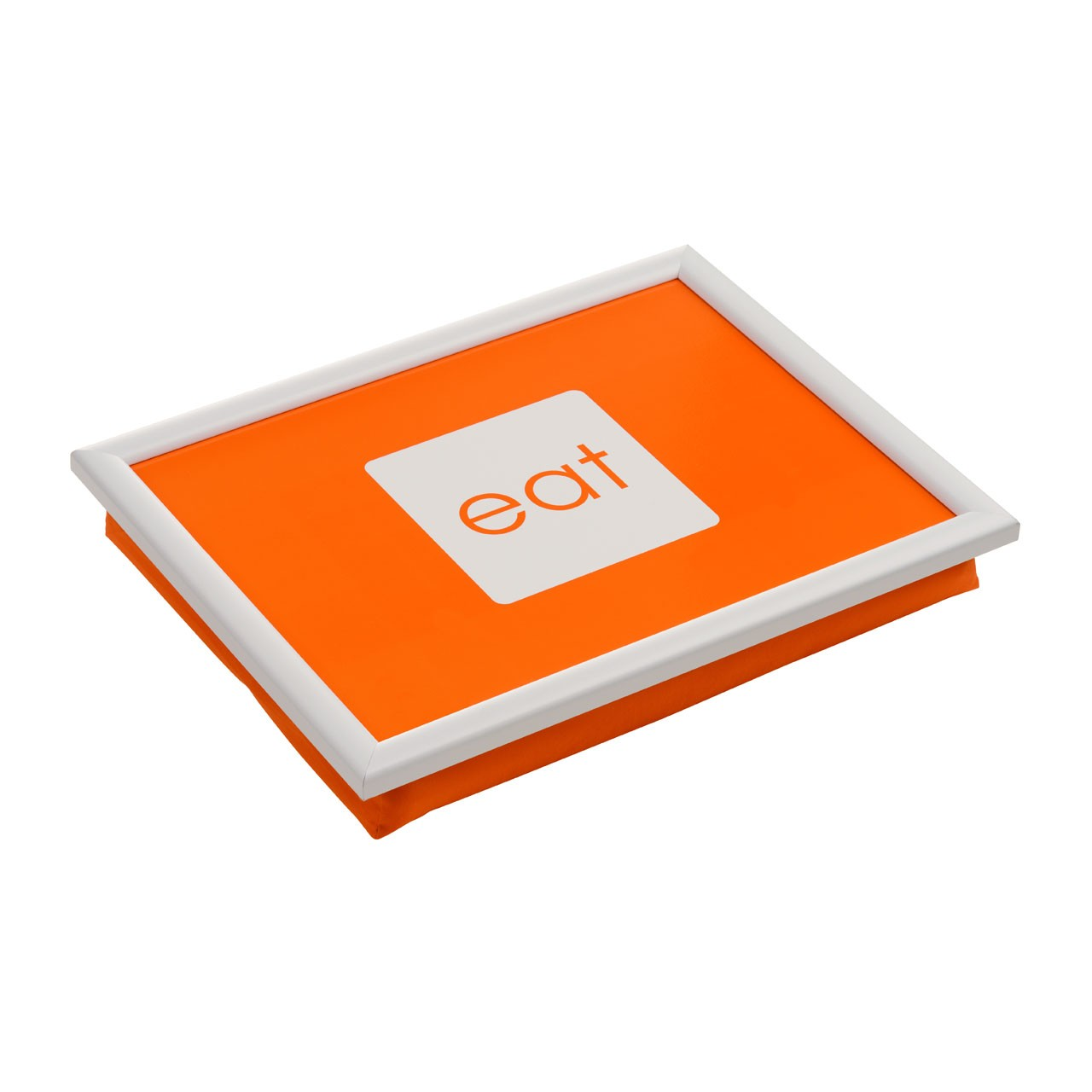 Lap Tray PP/Fabric White MDF In Four Different Colours (Orange)