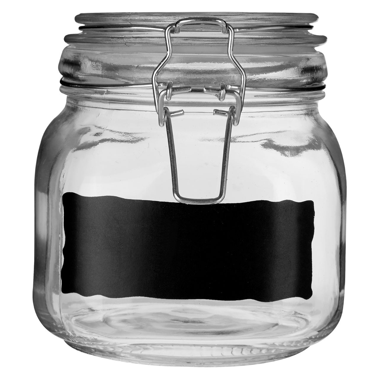 Prime Furnishing Glass Storage Jar With Chalkboard, Set Of 3