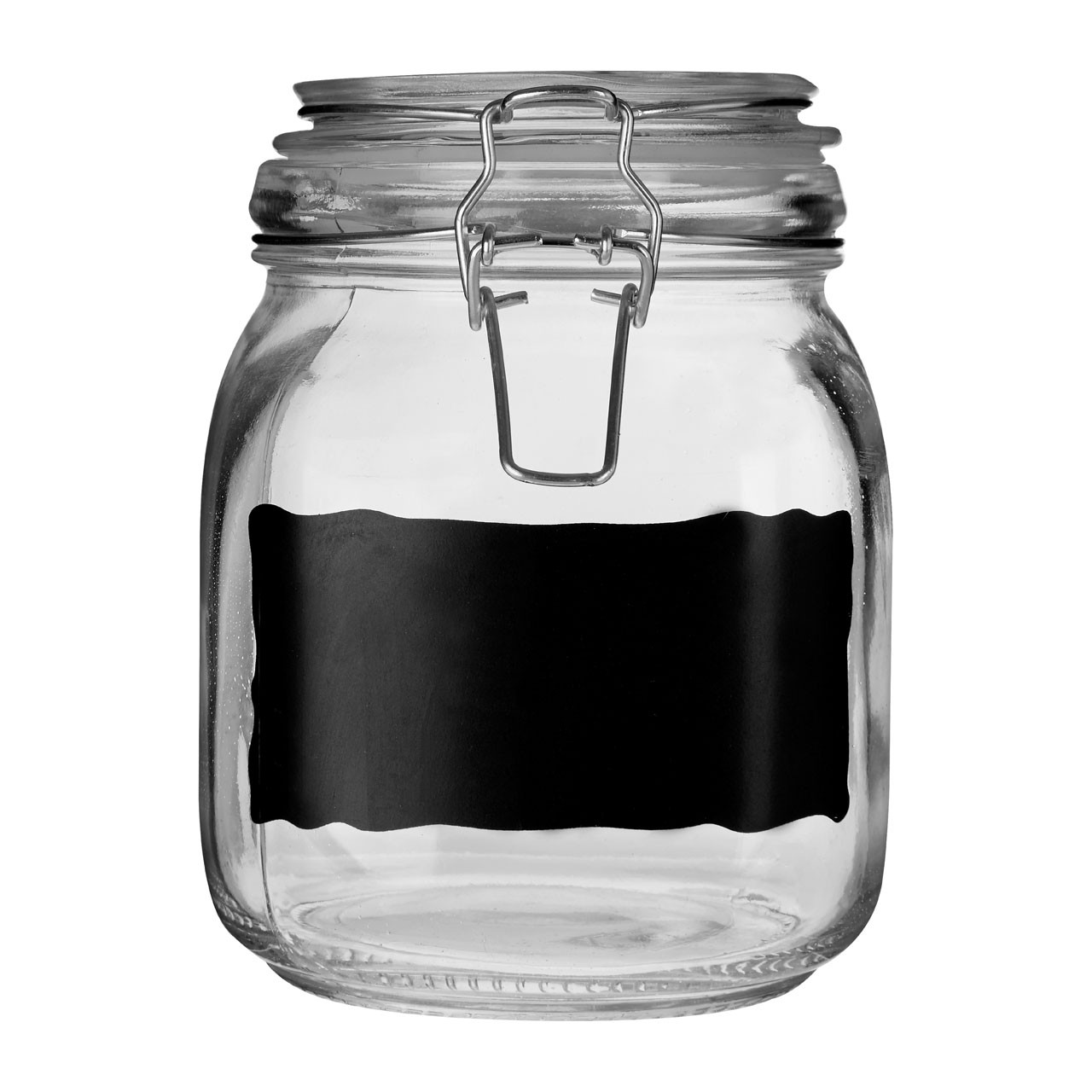 Prime Furnishing Glass Storage Jars With Chalkboard, Set Of 3