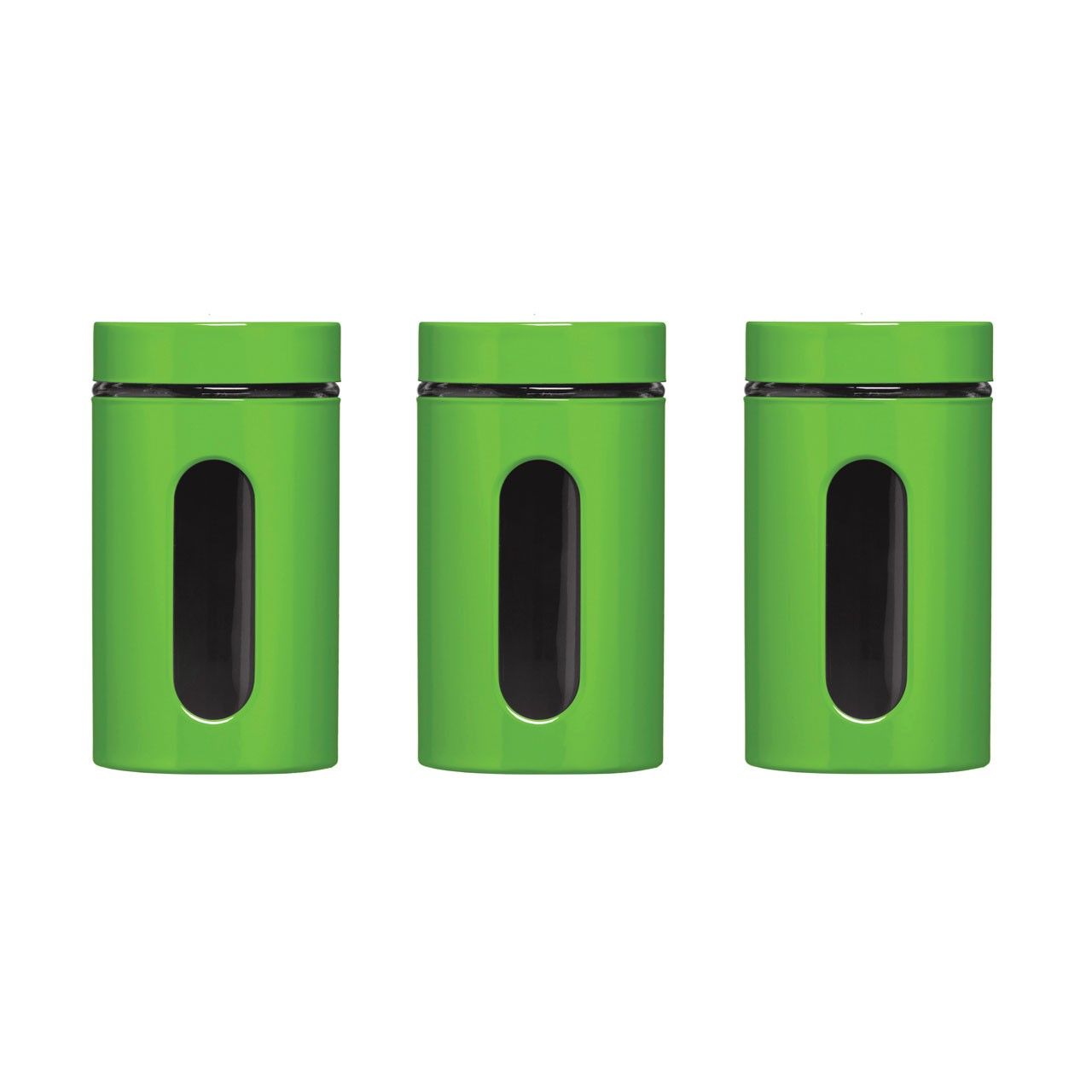 Storage Canisters - Green, Set of 3