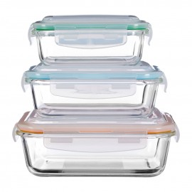Prime Furnishing Freska Glass Containers, Clear, Set Of 3