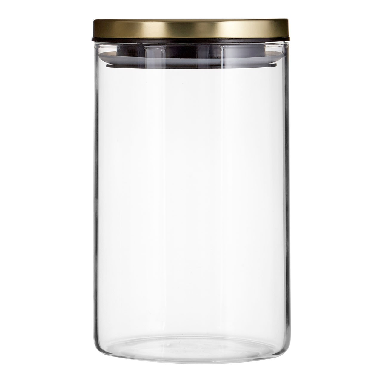 Prime Furnishing Freska Storage Jars, 950 ml, Set Of 3, Gold