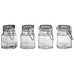 Prime Furnishing Spice Jars with Clip Tops - Set of 4