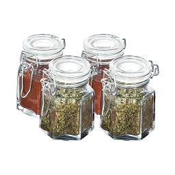 Spice Jars with Clip Tops - Set of 4