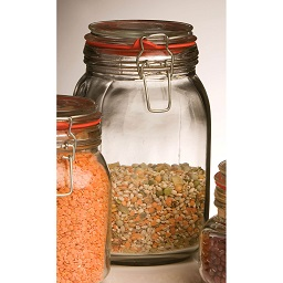 Prime Furnishing Glass Deli Jar With Clip Top Lid, 1500ml