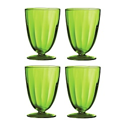 Prime Furnishing Sundae Dish - Green Glass, Set Of 4