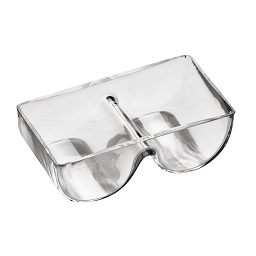 Prime Furnishing Serving Dish, Clear Glass, 2 Section