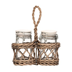 Prime Furnishing Country Cottage Salt & Pepper in Willow Basket