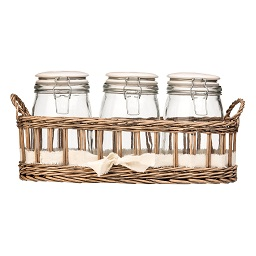 Prime Furnishing Country Cottage Set Of 3 Storage Jars