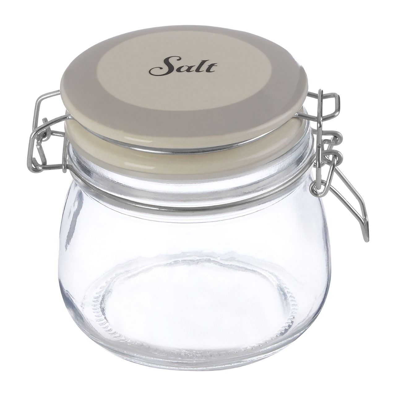 Grocer Salt Storage Jar Metal Top Lid Extremely Durable
