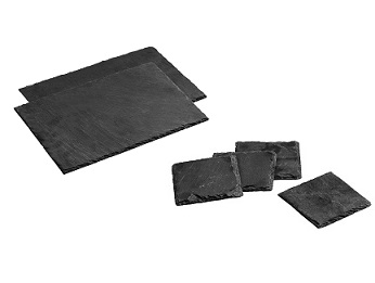 4 Square Coasters & 2 Rectangular Placemats -Slate