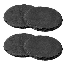 Round Slate Coasters, Set of 4