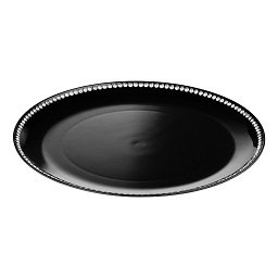 Charger Plate with Diamante Edge, 33 cm - Black