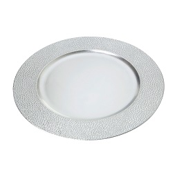 Charger Plate Polypropylene Silver Pebble Effect