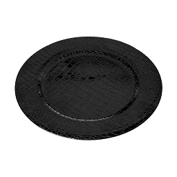 Charger Plate PP - Polypropylene Black Crocodile Effect
