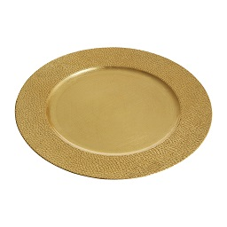 Prime Furnishing Gold Pebble Effect Charger Plate